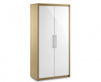 Helsinki 2 Door High Gloss Wardrobe