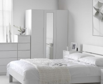 Trend 3 Door White High Gloss Wardrobe