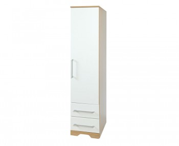 Chiltern 1 Door White & Oak Effect Wardrobe