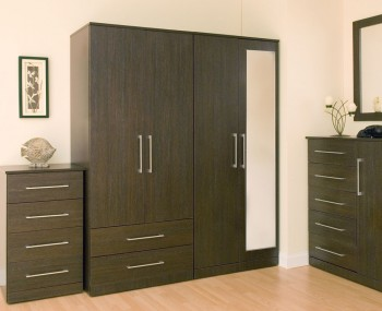 Cuban 2 Door Dark Oak Wardrobe
