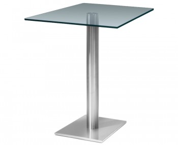 Turin Square Clear Glass Kitchen Table