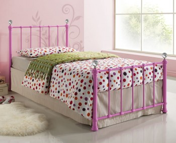Jasmine Girls Pink Metal Bed