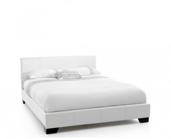 Fabbrico White Faux Leather Bedstead