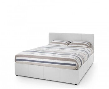 Malpasso White Faux Leather Ottoman Bed