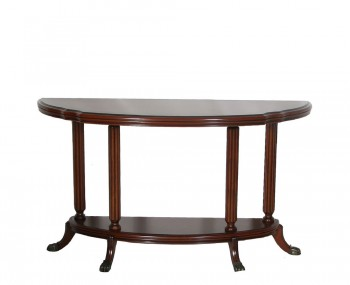 Seaton Wooden Half Moon Console Table