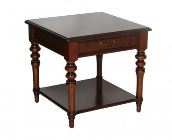 Bruton Wooden Lamp Table