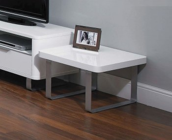 Mya White High Gloss Lamp Table