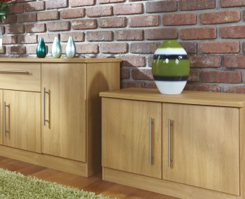 Siero Oak 2 Door Low TV Unit