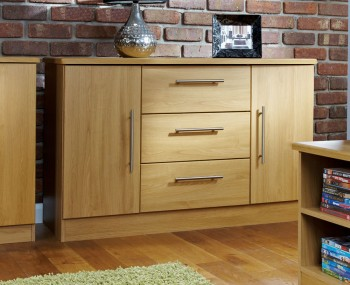 Siero Oak 2 Door 3 Drawer Sideboards