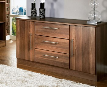 Alora Walnut 2 Door 3 Drawer Sideboards