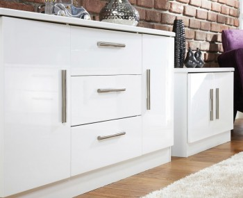 Vista High Gloss 2 Door 3 Drawer Sideboards