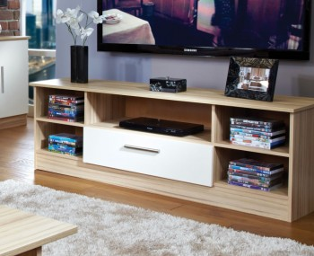 Pravia Vanilla Wide Open TV Unit