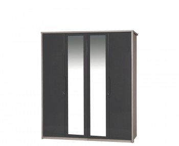 Affinity 4 Door High Gloss Wardrobe With Mirrors