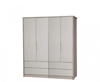 Affinity 4 Door 4 Drawer High Gloss Wardrobe