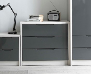 Affinity 3 Drawer High Gloss Chest
