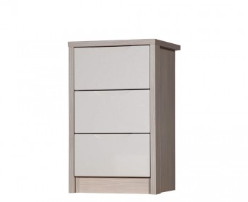 Affinity 3 Drawer High Gloss Bedside Chest