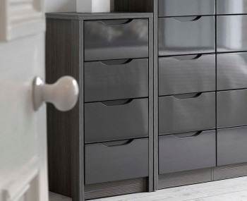 Affinity 4 Drawer High Gloss Tallboy Chest