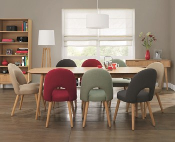 Orbit Oak Extending Dining Table and Chairs