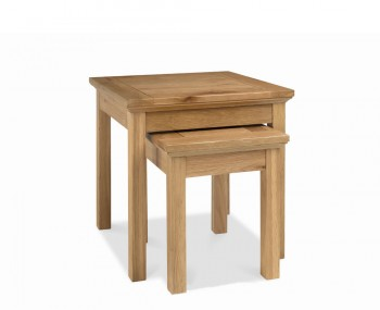 Provence Oak Nest Of Lamp Tables