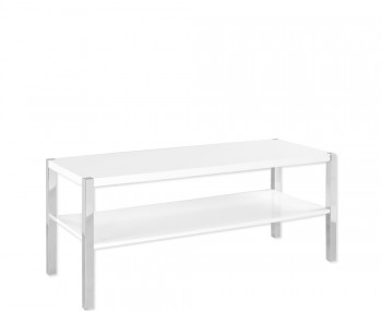 Theo White High Gloss TV Stand