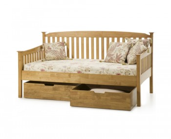Eleanor 3ft Hevea Oak Day Bed - Optional Storage Drawers