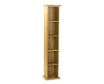 Turner Oak Small DVD Tower