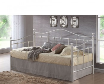 Torino 3ft Metal Off-White Day Bed