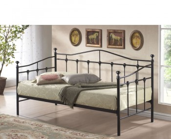 Torino 3ft Metal Black Day Bed