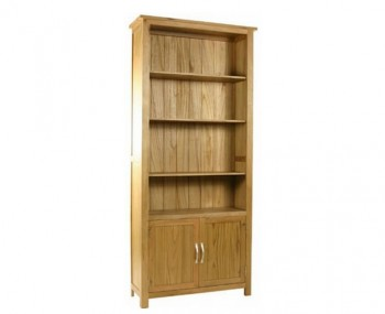 Turner Oak Cupboard Bookcase