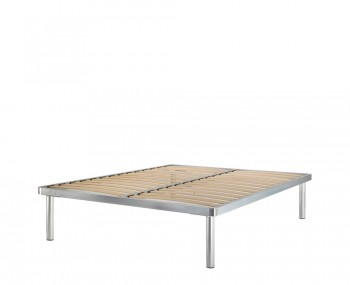 Deluxe Silver Metal Bed Base