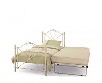 Lyon Ivory Metal Guest Bed