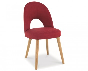 Orbit Postbox Red Upholstered Dining Chairs