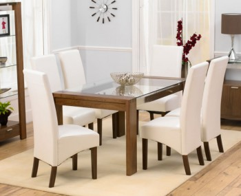 Lucera Walnut 180cm Dining Set