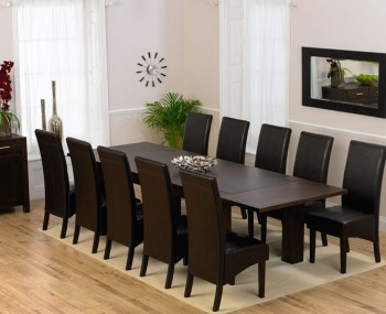 Madrid Dark Oak Extending Dining Table and Chairs