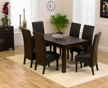 Whistler Dark Oak 150cm Extending Dining Table And Chairs