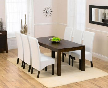 Whistler Dark Oak 180cm Extending Dining Table And Chairs