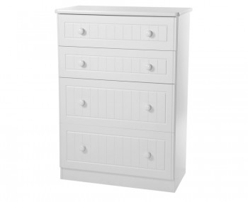 Warwick 4 Drawer Deep White Chest