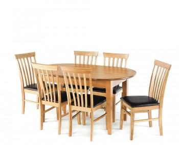 Cromwell Large Oval Oak Dining Set