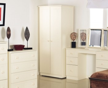Avimore 2 Door Tall Cream Wardrobe
