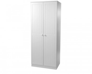 Warwick 2 Door Tall White Wardrobe