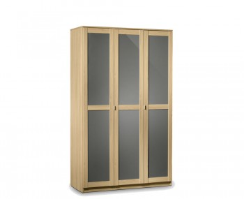 Allegro Oak and Grey Gloss 3 Door Wardrobe