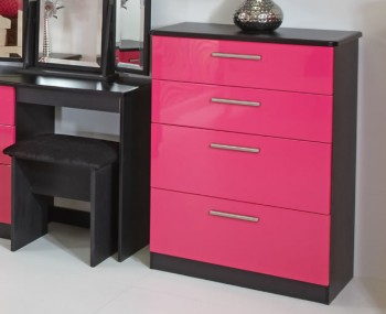 Kati Pink Girls 4 Drawer Chest