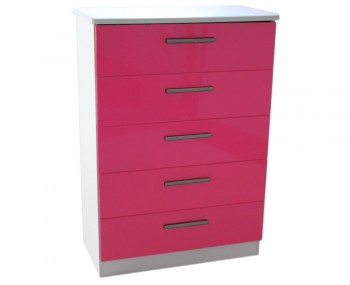 Kati Pink Girls 5 Drawer Chest