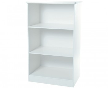 Vista White Wooden Bookcase