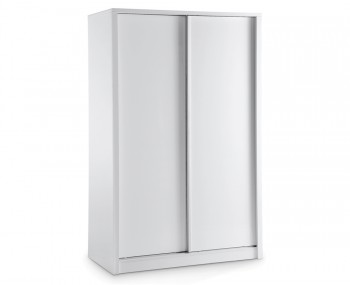 Theo White High Gloss Sliding Wardrobe
