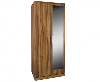 Camrose Walnut 2 Door Wardrobe with Mirror