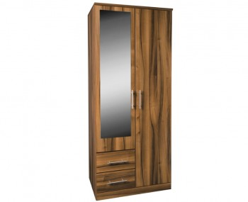 Camrose Walnut 2 Door Combi Wardrobe