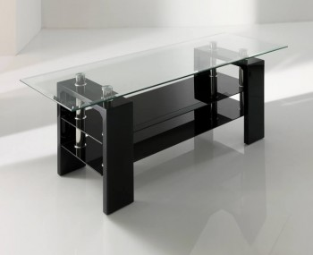 Parma Black Glass TV Stand