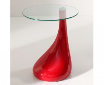 Galder Red High Gloss Lamp Table