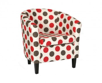 Panda Dolce Red Tub Chair